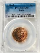 2014 I India Gold Sovereign Brilliant Uncirculated Pcgs Ms65 Coin Full Sov