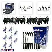 8 B058 Coils + 8 41-962 Spark Plugs + 8 Acdelco Wires + 2 Brackets And Harnesses
