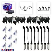 8 Bs-c1511 Coils +8 41-962 Plugs +8 Wires W/heat Shields +2 Brackets And Harnesses