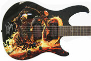 Stan Lee Signed Peavey Marvel Ghost Rider Predator Electric Guitar And Certificate