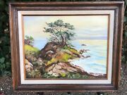 Alice Hobbs Bolton Coutts Original 1950s Seascape Mid Century Modern Oil Canvas