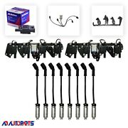 8 Bs-c1511 Coils + 8 Herlux Wires W/heat Shields + 2 Brackets And Harnesses