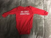 Carters My First Christmas - One Piece Long Sleeve Christmas Romper - 6 Months