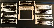 Rare 1952 Marx Roy Rogers Double R Bar Playset Gateway And 9 Sections Fencing