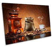 Brown Coffee Grinder Kitchen Canvas Wall Art Deco Large Ready To Hang All Sizes