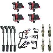 4 Herko Coils +4 Bosch Spark Plugs +4 Herlux Wires +1 Oem Bracket And Harness
