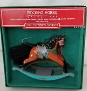 1989 Hallmark Brown Rocking Horse Christmas Ornament 9th In Series