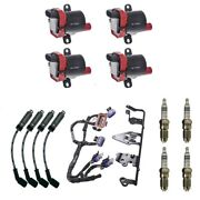 4 Herko Coils +4 Bosch Spark Plugs +4 Acdelco Wires +1 Oem Bracket And Harness