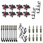 8 Herko Coils +8 Bosch Spark Plugs +8 Herlux Wires +2 Oem Brackets And Harness