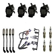 4 Adp Coils + 4 Bosch Spark Plugs+ 4 Herlux Wires + 1 Oem Bracket And Harness