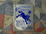 1955 Baltimore Colts Media Guide Yearbook Don Shula Miami Dolphins Program Ad