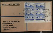 1943 Occupied Jersey Channel Island First Day Cover Fdc Stamp Plate Domestic Use