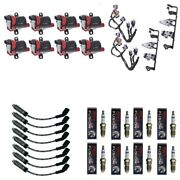 8 Herko Coils +8 Bosch Spark Plugs +8 Acdelco Wires +2 Oem Brackets Andharness