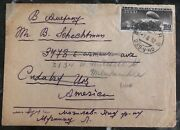 1937 Tarugadas Russia Urss Cover To Cudahy Wi Usa Zeppelin Stamp Issue