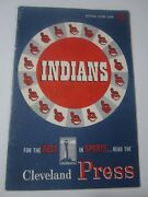 1953 Cleveland Indians Vs White Sox Cleveland Press Official Score Card Scored