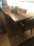 Antique Dining Table And 6 Chairs Made Of Reclaimed Wood