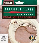 Royal Wulff Bass Triangle Taper 9 Wt Fly Line Olive Free Fast Shipping Ttba9fg