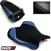 Yamaha R1 Seat Covers 2015-2020 2021 Black Blue Luimoto Front Rear Sport Suede