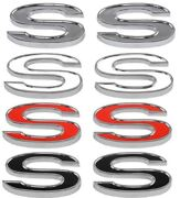 Trim Parts Z4620a Adhesive Backed Ss Emblems White Red Black Inserts Gm Vehicles