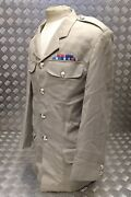 Ex-british Army Royal Artillery Officers Tropical Issue Dress Jacket Buttoned Ra