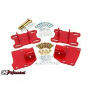 Umi Performance 4008-r Lsx Motor Mount Adapter Kit Red For 1968-1972 Gm A-body