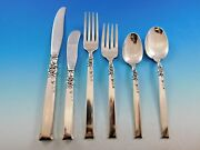 Silver Rose By Oneida Sterling Silver Flatware Set For 12 Service 80 Pieces