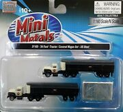 N Scale Classic Metal Works 1954 Ford Tractor/trailer 'us Steel' Item 51168