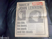 The Beatles - Official 1980 Daily Mirror Newspaper Tribute John Lennon Excellent
