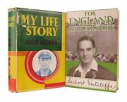 Jack Hobbs And Herbert Sutcliffe - Signed Books My Life Story/england And Yorkshire