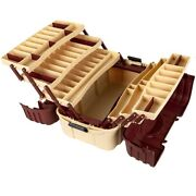 Large Tackle Box Hip Roof 7 Tray Plastic Fishing Storage Organizer Drink Holders
