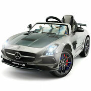 Kids Ride On Mercedes Amg Sls Coupe Super Car 12v Lcd Tv Mp3 Mp4 Player Led Rc