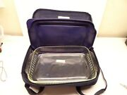 Pyrex Portables 4-piece Set-carrier Glass Dish - 233s With Lid And Hot/cold Pac