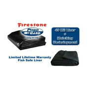 Firestone Pond Liner And 6oz Underlay Kit - 45 Mil Epdm 500 Sf+ Sizes Freight Only