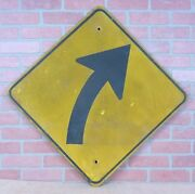 Old Directional Arrow Connecticut Highway Dept Retired Transportation Wood Sign