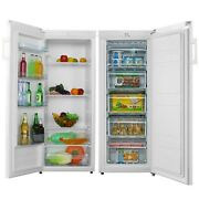 Cookology Upright Fridge And Freezer Pack In White, 55 X 142cm Tall, Side-by-side