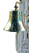 X-mas 11 Inch Solid Brass Polished Bell W/titanic Engraving Premium Boatand039s B