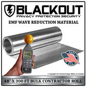 Emf Rf Faraday Cage Wave Reduction Material 48 X 300' Contractor Roll By Blacko