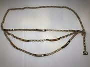 St. John Suit Jewelry Gold Belt Triple Xl Chain Link Adjustable To 36 Accessory