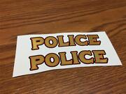 Front Fender Police Water Transfer Decal For Collector Vintage Repro Panhead