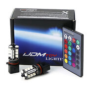 2 7-color Rgb P13w Led Bulbs For Fog Light Driving Lamps W/ Wireless Ir Remote