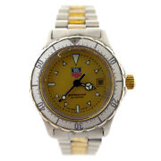 Tag Heuer 974.008 2000 Series Gold Dial 18k Gold+stainless Steel Ladies Watch