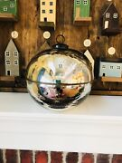 Pottery Barn Ornament Candle Silver Large Christmas Decor Mercury Glass Scented