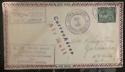 1930 Colon Panama First Flight Airmail Cover Ffc To Kingston Jamaica