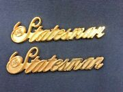 One Pair Of Eandg Classic Cadillac Statesman Panel Emblems 24k Gold Plated