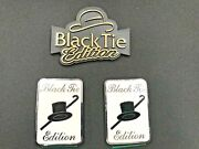 3 Piece Set Of Emblems Special Black Tie Edition Classic One Has A Gold Finish