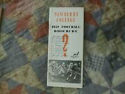 1959 Newberry Indians Football Media Guide Yearbook Press Book Program Ad