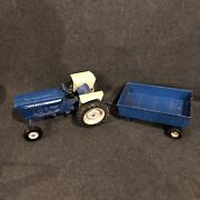 Ford 4600 Vintage Tractor Ertl 112 Scale Open Station W/ Trailer Used