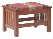 Mission Arts And Crafts Stickley Style Prairie Spindle Ottoman Made To Order
