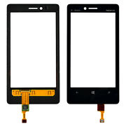 New Nokia Oem Front Touch Screen Digitizer Glass Lens For Lumia 810 - Black