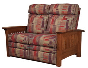 Mission Arts And Crafts   Stickley Style   Prairie Spindle   Loveseat Recliner